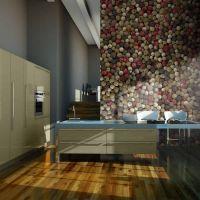 Mosaik af farvet peber fotostat - flot foto tapet til væggen