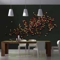 Sammensætning af farvet peber fotostat - flot foto tapet til væggen