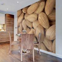 Tasty almonds fotostat - flot foto tapet til væggen