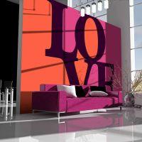 Love is in the air fotostat - flot foto tapet til væggen