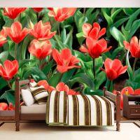 Painted flowers fotostat - flot foto tapet til væggen