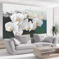 Orkideer og poesi fotostat - flot foto tapet til væggen