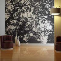 Bleak forest fotostat - flot foto tapet til væggen