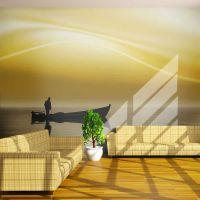 Fishing at sunset fotostat - flot foto tapet til væggen