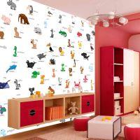 Dyr med navne fotostat - flot foto tapet til væggen
