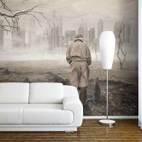 Ghost's city fotostat - flot foto tapet til væggen