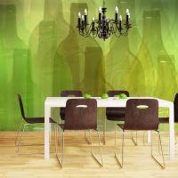 Grønne flasker fotostat - flot foto tapet til væggen
