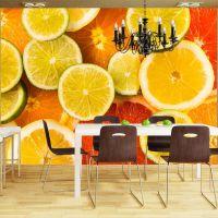 Citrus fruits fotostat - flot foto tapet til væggen