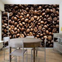 Roasted coffee beans fotostat - flot foto tapet til væggen