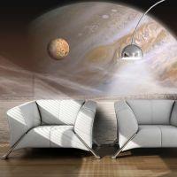 En lille og en stor planet fotostat - flot foto tapet til væggen