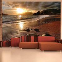 Relaxation by the sea fotostat - flot foto tapet til væggen