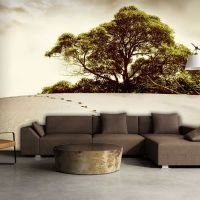 Træ i ørkenen fotostat - flot foto tapet til væggen