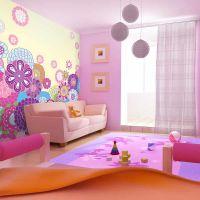Blomstret og farverigt fotostat - flot foto tapet til væggen