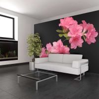 Azalea in Black fotostat - flot foto tapet til væggen