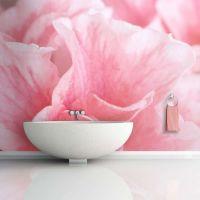 Pink azalea blomster fotostat - flot foto tapet til væggen
