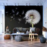 Wind and dandelion fotostat - flot foto tapet til væggen