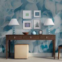 Azalea (blue) fotostat - flot foto tapet til væggen