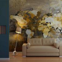 Kunstnerisk kort over verden fotostat - flot foto tapet til væggen
