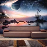 Kosmisk landskab fotostat - flot foto tapet til væggen