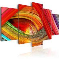 Colorful strips abstraction canvas print - flot billede på lærred