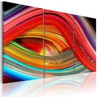 An abstract rainbow canvas print - flot billede på lærred