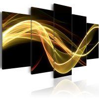 An abstract smoke-screen canvas print - flot billede på lærred