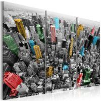 New York i CMYK-farver canvas print - flot billede på lærred