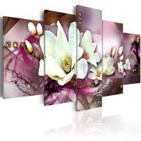 Magnetic abstraction with an orchid canvas print - flot billede på lærred