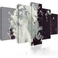 Black or white? - 5 dele canvas print - flot billede på lærred
