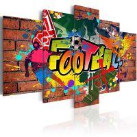 soccer (graffiti) canvas print - flot billede på lærred
