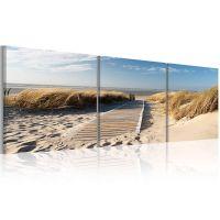 Beach (3-delt) canvas print - flot billede på lærred
