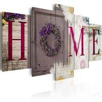 Welcome home canvas print - flot billede på lærred
