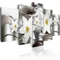 Mysterious lilies canvas print - flot billede på lærred