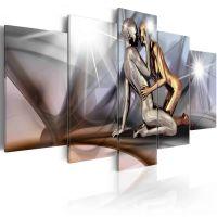 Gold couple canvas print - flot billede på lærred