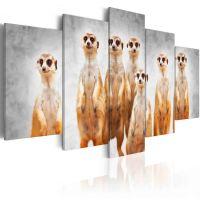 Meerkats canvas print - flot billede på lærred