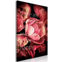 There Are so Many Beautiful Reasons to Be Happy (1 del)  canvas print - flot billede på lærred