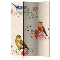 Bird Song skærmvæg. Dekorativ flytbar skillevæg / rumdeler til hjem eller kontor.