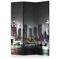 New York skærmvæg. Dekorativ flytbar skillevæg / rumdeler til hjem eller kontor.