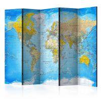 World Classic Map  skærmvæg. Dekorativ flytbar skillevæg / rumdeler til hjem eller kontor.