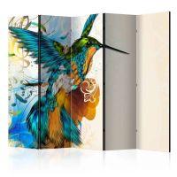 Bird's Music II skærmvæg. Dekorativ flytbar skillevæg / rumdeler til hjem eller kontor.