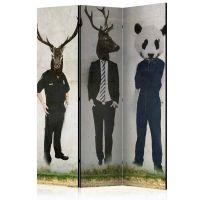Man or Animal  skærmvæg. Dekorativ flytbar skillevæg / rumdeler til hjem eller kontor.