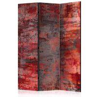 Red Metal skærmvæg. Dekorativ flytbar skillevæg / rumdeler til hjem eller kontor.
