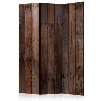 Wooden Hut skærmvæg. Dekorativ flytbar skillevæg / rumdeler til hjem eller kontor.