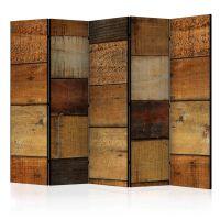 Wooden Textures II skærmvæg. Dekorativ flytbar skillevæg / rumdeler til hjem eller kontor.