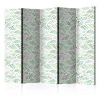 Green Waves II skærmvæg. Dekorativ flytbar skillevæg / rumdeler til hjem eller kontor.
