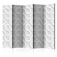 Grey Spirals II skærmvæg. Dekorativ flytbar skillevæg / rumdeler til hjem eller kontor.