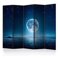 Moonlit night II skærmvæg. Dekorativ flytbar skillevæg / rumdeler til hjem eller kontor.