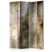 Gold stripes skærmvæg. Dekorativ flytbar skillevæg / rumdeler til hjem eller kontor.