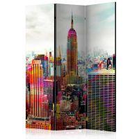Colors of New York City skærmvæg. Dekorativ flytbar skillevæg / rumdeler til hjem eller kontor.