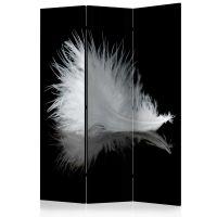 White feather skærmvæg. Dekorativ flytbar skillevæg / rumdeler til hjem eller kontor.